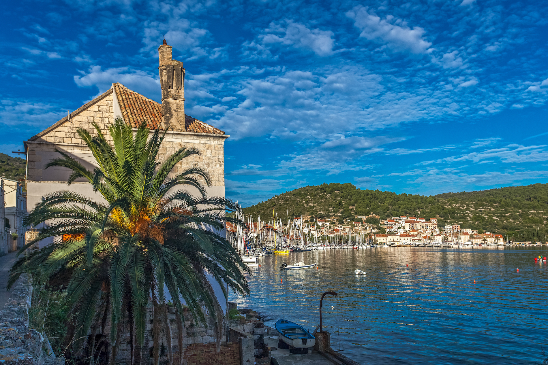 harbor town of vis, island of vis