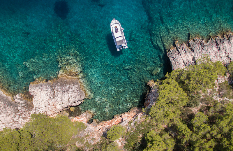 boat, barracuda, island of vis, croatia